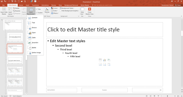 Powerpoint ms office stories besides placeholders you can also insert shapes including text boxes in the slide master view but unlike the first shapes cannot be adjusted in the toneelgroepblik Image collections