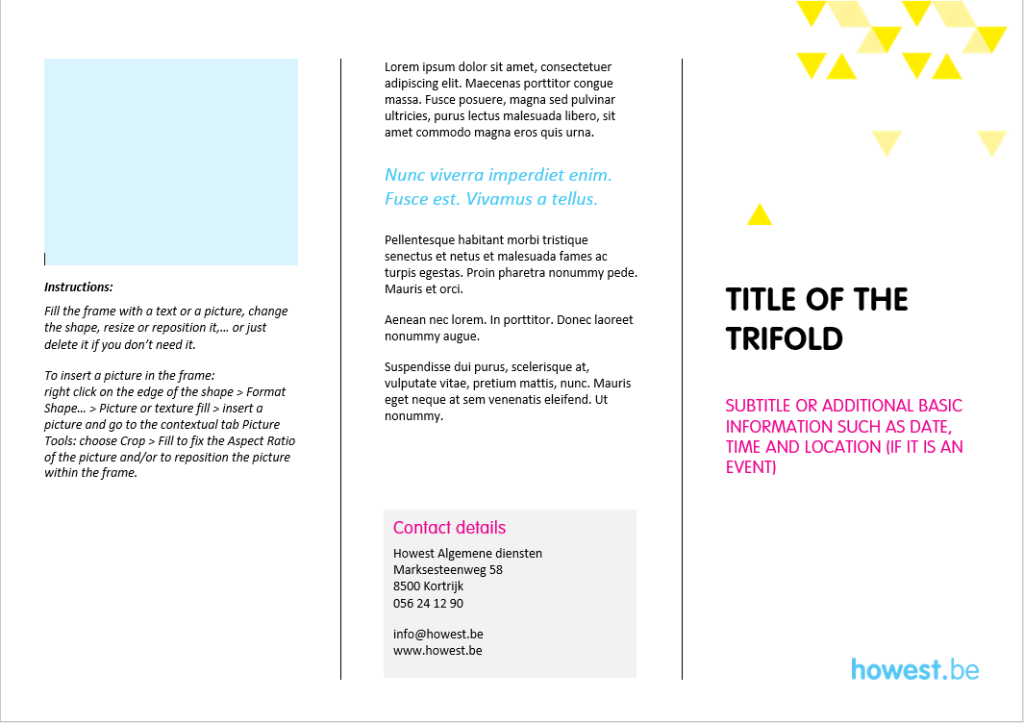 Howest_template trifold